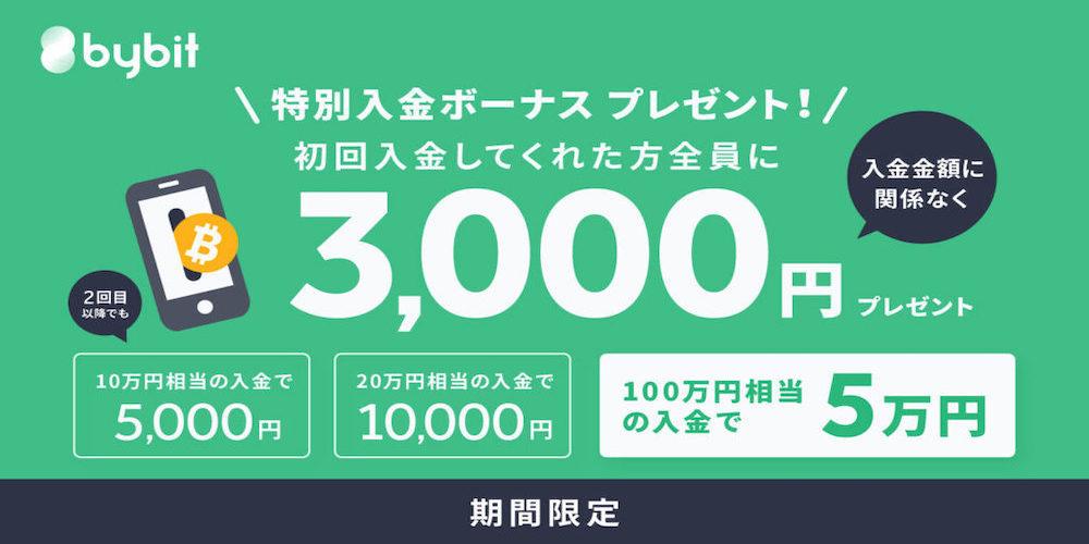 Bybit 初回入金キャンペーン(2021年2月)